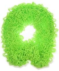 Gebreide Sjaal Franjes Neon Groen