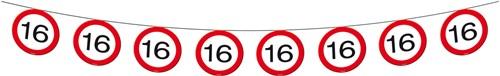 Vlaggenlijn 16 jaar Verkeersbord
