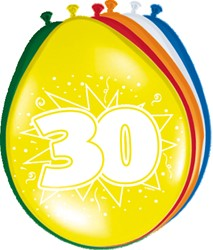 Ballonnen 30jaar 8st