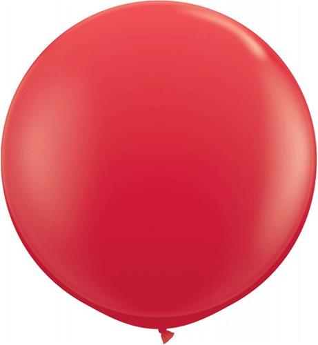Topballon 90cm Rood