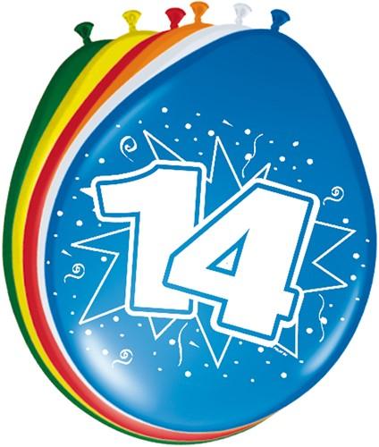 Ballonnen 14 jaar 8st