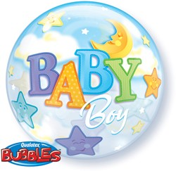 Bubble Baby Boy Moon Stars