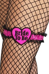 Kousenband Bride to Be Zwart-Pink