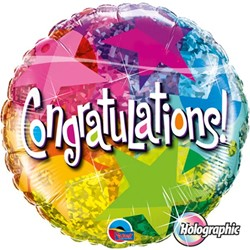 Folieballon Congratulations Star (46cm)