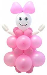 Ballondecoratie Geboorte Meisje (95cm)