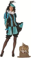 Dames Pietenpak Pepita Turquoise-Zwart