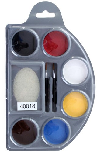 Waterschmink Palette 6 kleuren