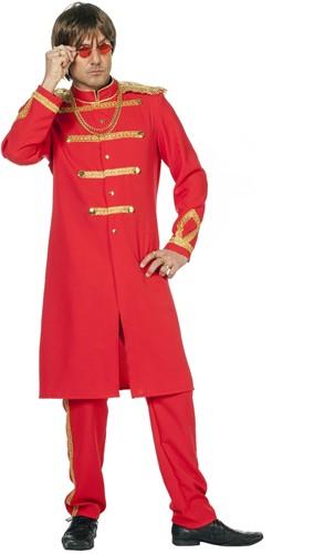 Herenkostuum Sergeant Pepper Rood