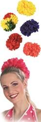 Haarclip bloem groot Zwart