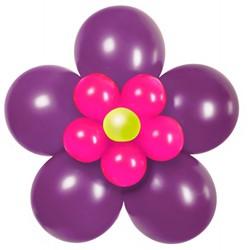 Ballondecoratie Bloem Paars/Pink (70cm)