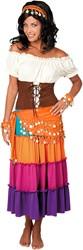 Buikdansset Zigeunerin Oranje (4 delig)