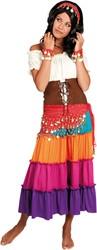 Buikdansset Zigeunerin Rood 4dlg.