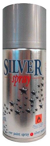 Decoratie Spray Zilver (150ml)