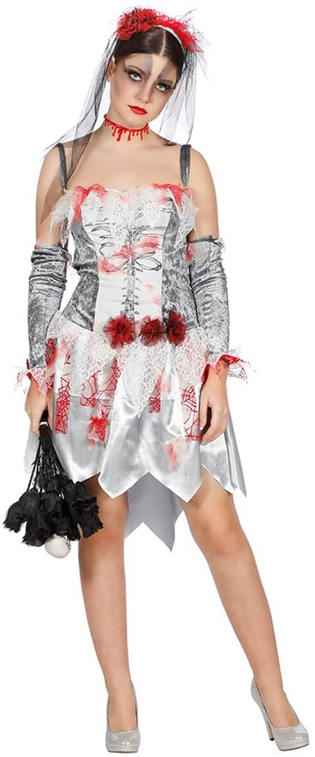 a4f06fcefcdc54 Halloween Jurk Zombie Bruid voor dames