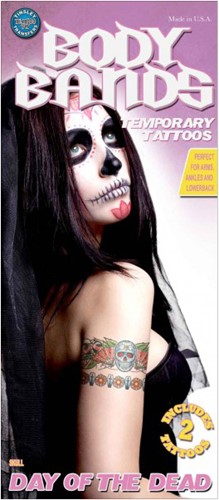 Arm Tattoos Day of the Dead Skull (2st.)