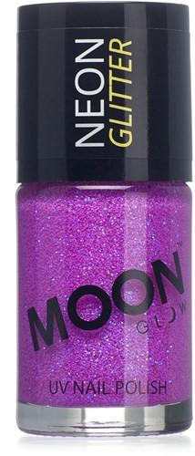 UV Nagellak Glitter Paars (14ml)