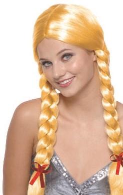 Pruik Heidi Vlechten Blond