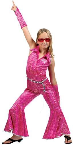 Disco Jumpsuit Pink voor Meisjes