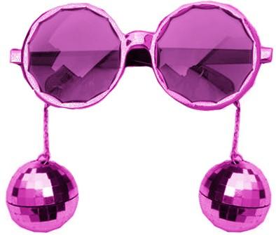 Bril Disco Ballen Pink