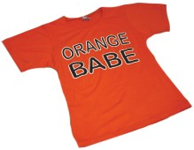 T-shirt Orange Babe