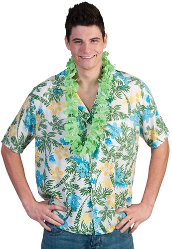 Hawaii Blouse Palmtree & Flowers