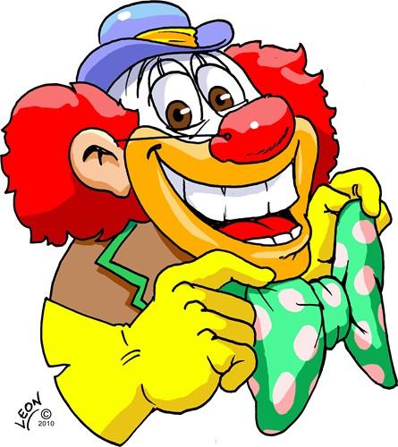 Wanddeco Clown Pipo
