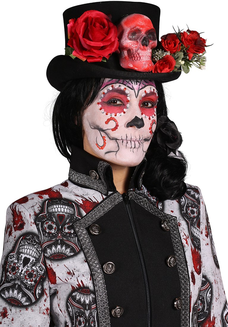 Halloween Jas Mexican Skull Coloured voor dames