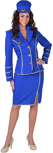 Stewardessen Pakje 1950 Blauw voor dames