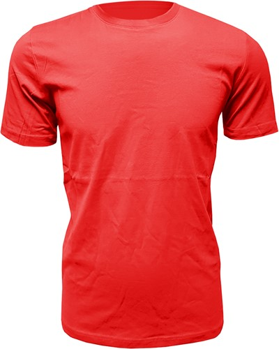 Heren T-Shirt Rood (Slim Fit)