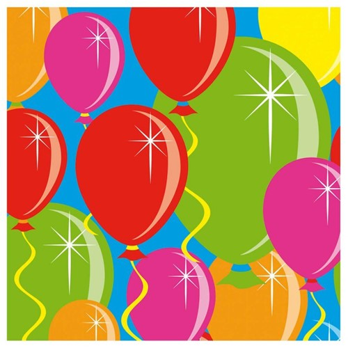 Servetten Balloons 20st. 25x25cm