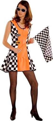 Sexy Racejurkje Oranje