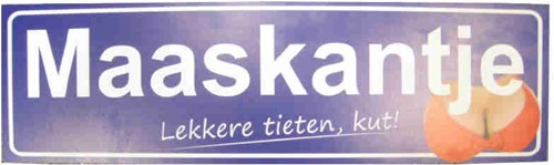 Bord Maaskantje Lekkere Tieten 60x18cm