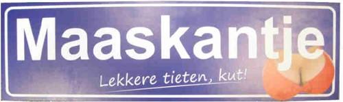 Maaskantje Lekkere Tieten 60X18cm