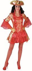 Dameskostuum Sexy Markiezin Rood Luxe