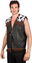 Cowboy Vest Western Zwart voor heren