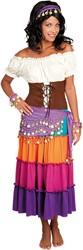 Buikdansset Zigeunerin Paars (4 delig)