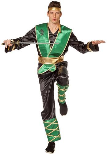 Herenkostuum Groene Ninja