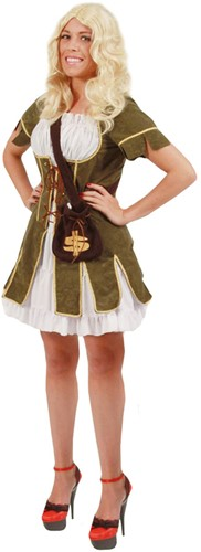 Dameskostuum Robin Hood Girl Luxe