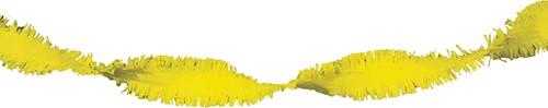 Crepeguirlande Geel Brandveilig (24m)-2