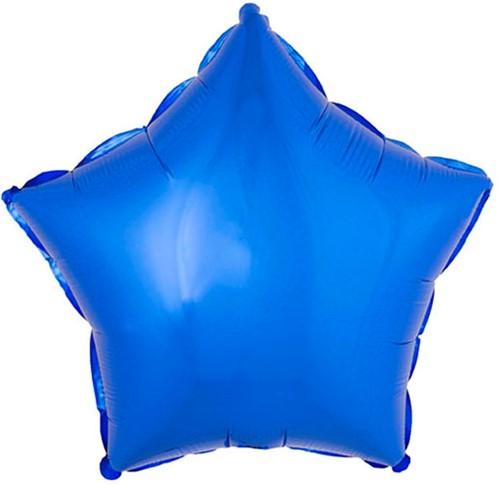Folieballon Ster Metallic Blauw (53x46cm)