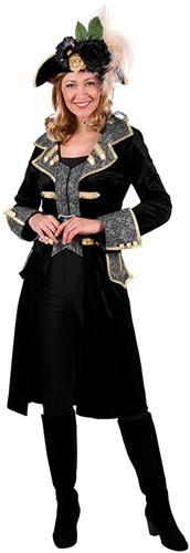 Damesjas Lang Luxe Zwart