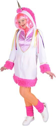 Jurkje Eenhoorn (Unicorn) Wit-Roze voor meisjes