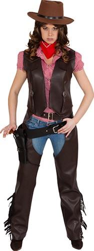 Dames Cowgirl Vest Bruin