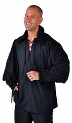 Hemd Zorro Luxe Zwart