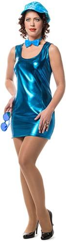 Stretchjurkje Metallic Blauw