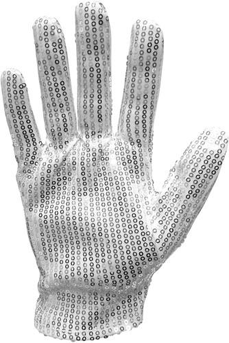 Handschoenen Michael Jackson met Zilver Pailletten