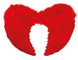 Engelen Vleugels Rood met Marabou (50x35cm)