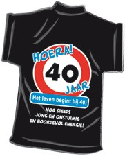 Mini-shirt 40 jaar