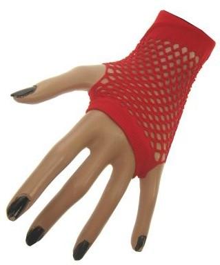 Nethandschoenen Vingerloos Kort Rood
