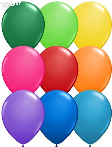 Ballonnen Metallic Multi 35cm - 100 stuks